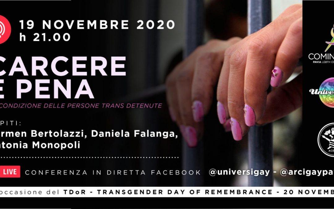 TDoR – Carcere e pena – La condizione delle persone trans detenute