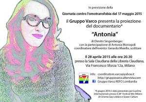 "Proiezione del documentario ""Antonia"""